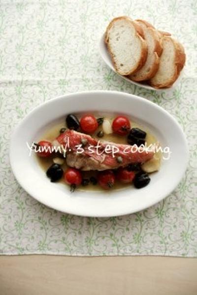 切り身魚がお安くなってたら♪あっという間に出来ちゃうイタリアの魚料理、アクアパッツァ