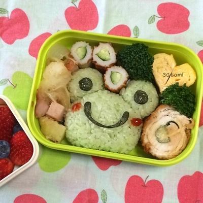 2015/02/16 幼稚園弁当☆ カエル好きな次女ちんへ送る キャラ弁