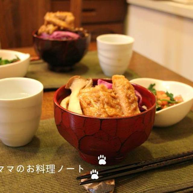 発酵食品パワーの晩ごはん☆糠漬け豚の丼