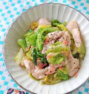 フライパンで10分!ぷりぷり鶏胸肉と春キャベツの柚子胡椒煮☆別れのシーズン
