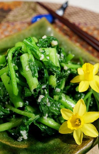 今が旬!【菜園蕾菜の漬物】簡単!5分で出来ます♪