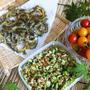 ■菜園料理【ゴーヤのチーズチップ/オクラ納豆】