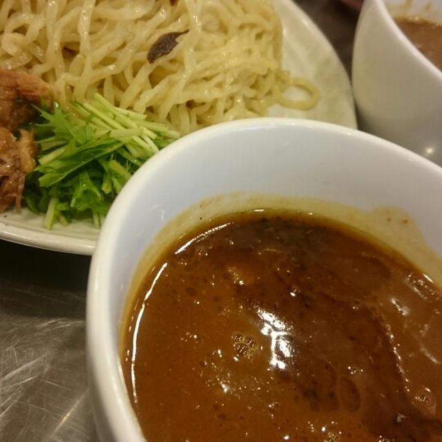 「まんねんカレー」のカレーつけ麺@裏谷四