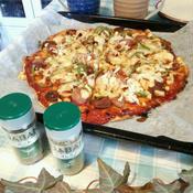 スパイスで、簡単!本格的な味のピザ♪