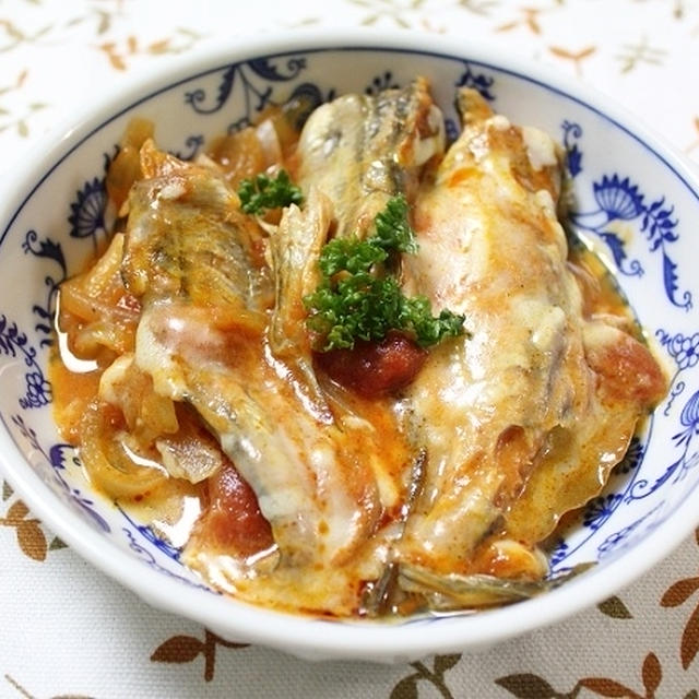 ハタハタのトマトチーズ煮込み 調理時間15~30分