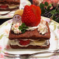 超簡単!いちごチョコバナナケーキ by shoko♪さん