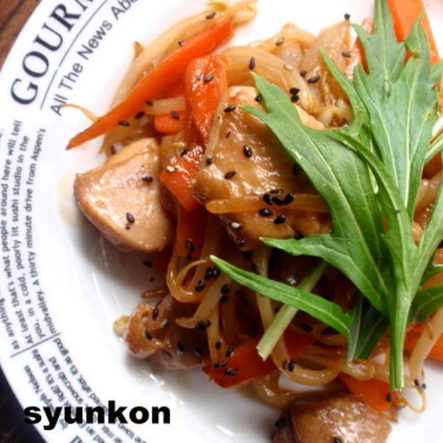 【簡単カフェごはん】鶏肉と野菜のめんつゆマヨポン炒め定食