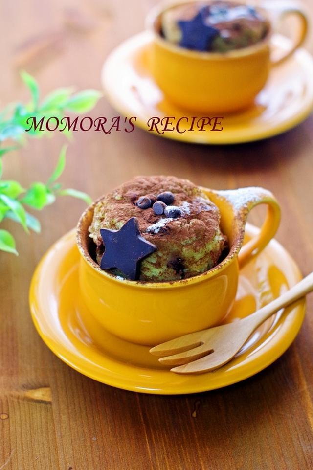 簡単チョコバナナマグカップケーキ
