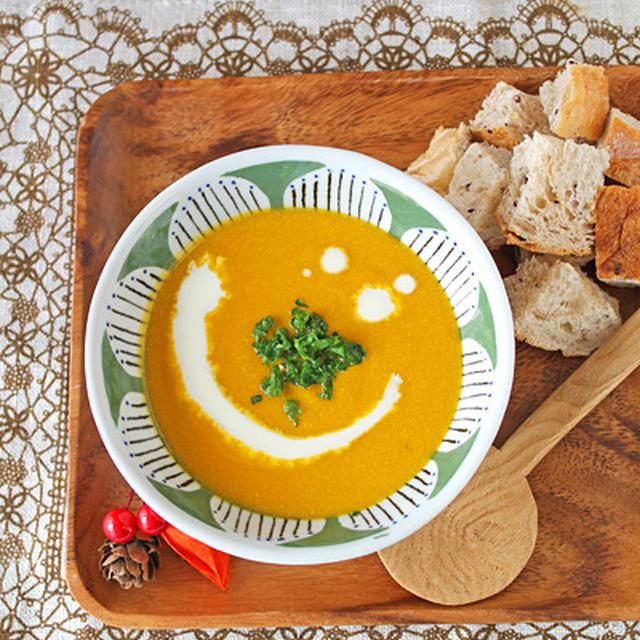 濃厚かぼちゃの豆乳スープ☆ストウブ