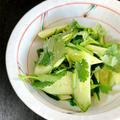 きゅうりと香菜のさっぱりサラダ