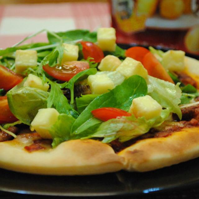 市販のピザで!こんがりチーズの サラダピザ ☆