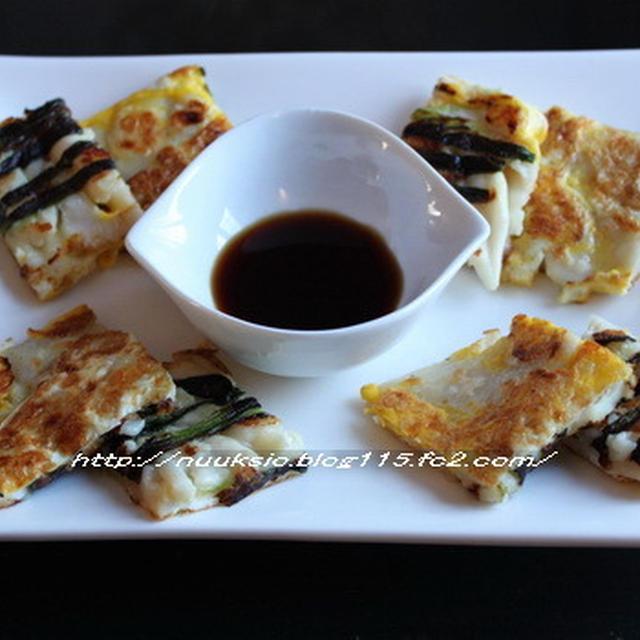 ☆ 晩御飯 ☆ ヘムルパジョン&白菜と葱のナムル