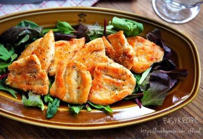 ♡簡単コクうま♡ささみのバターチーズ焼き♡【#フライパン#時短#節約#鶏肉】