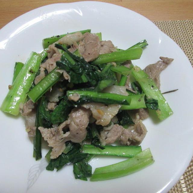 簡単!ぱぱっと豚肉と小松菜のガーリック炒め