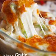 【レシピ】白菜のマカロニグラタン。←フライパンひとつでできるタイプです