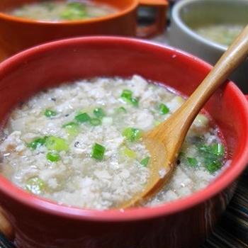 鶏ひき肉のとろろスープ♪念を送って完食させる