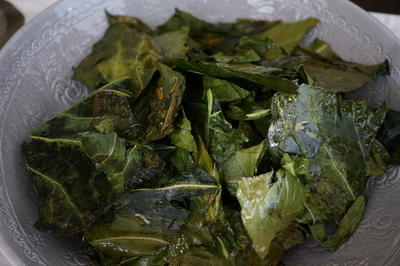 ロマネスコの葉でチップス