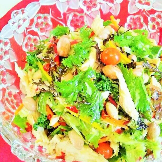 茹で落花生&10品目の彩り野菜deベトナム風サラダ