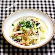 ベーコンと白菜のクリーム生パスタ&西中島南方で美味しい「塩ラーメン 鱗」