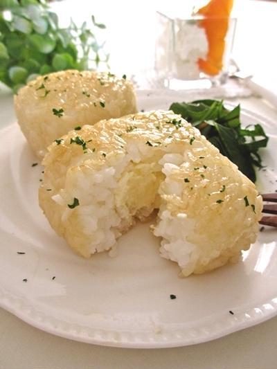 チーズイン♪バター焼きおにぎり…