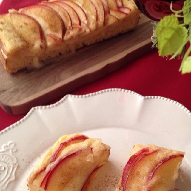 ホットケーキミックスでアップルパンケーキ