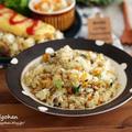 ごはんですよぉ♡小松菜と海苔のバターライス♡