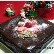 とろりんチョコがけ!フルーツチョコクリスマスケーキ