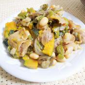 牛豆野菜のレモンペパーミックス炒め