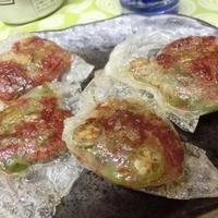 コンビーフ&オクラをカレー風味で♪ ライスペーパーでひとくち餃子