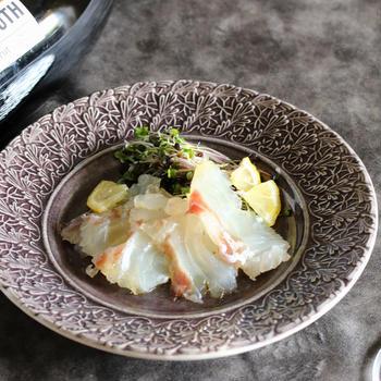 おうちでアペリティーボプロセッコDOCマリアージュレシピ【白ワインで作る 鯛の昆布締め】
