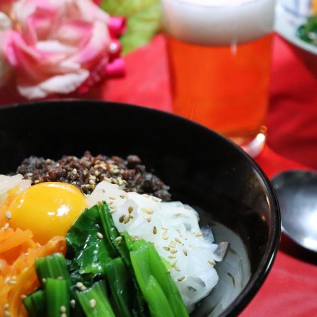ナムル5種 ビビンバ丼