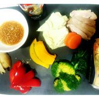 【モニターRecipe:茹で鶏とお野菜~ハーブ味噌ディップ】干支デザイン缶プレモルでお正月♪