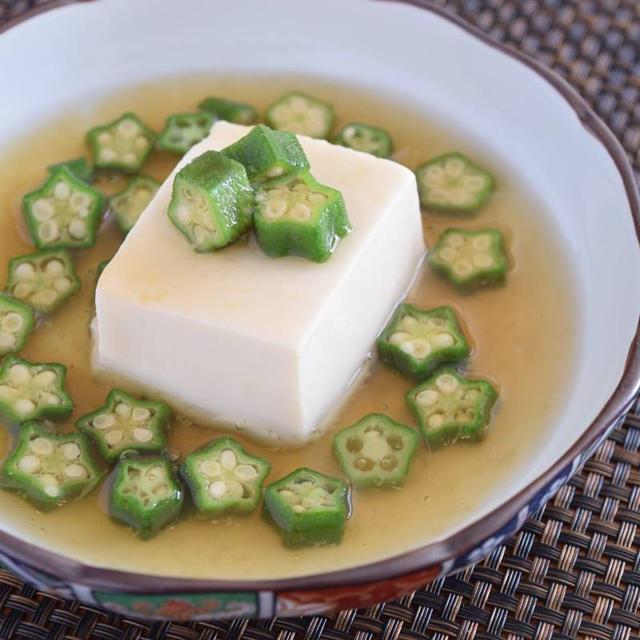 豆腐のオクラあん