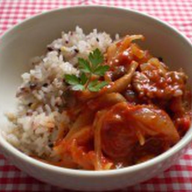 ハーブで美味しいトマトソースご飯【健康レシピ】