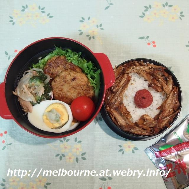 夏の朝ごはん★お弁当は 照り焼き豆腐バーグ
