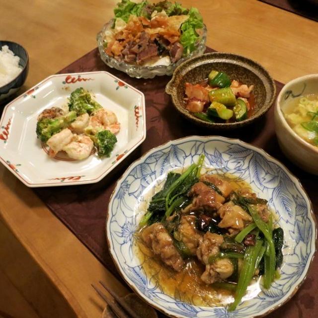 ミルフィーユ豚で簡単「トンポーロー」の晩ご飯 と ポンポンダリアの花♪