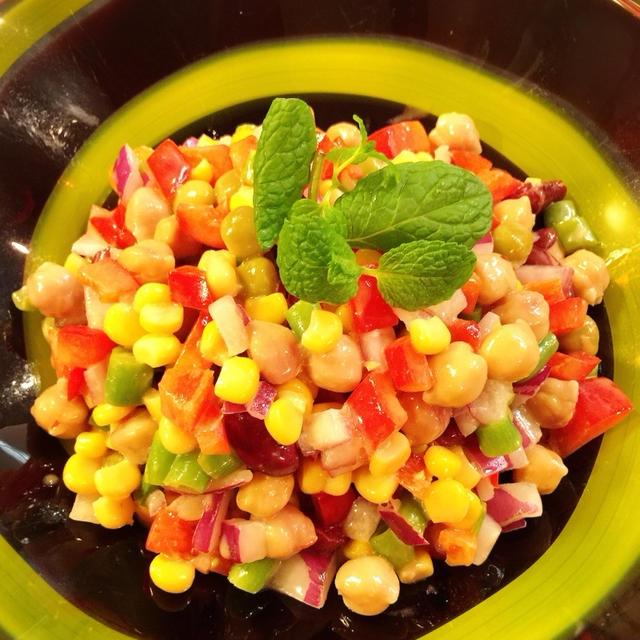 【カレーの友】カラフルビタミン豆サラダ