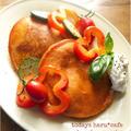 理想のトマトのグリルサラダパンケーキ