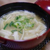 えのきと納豆のの味噌汁