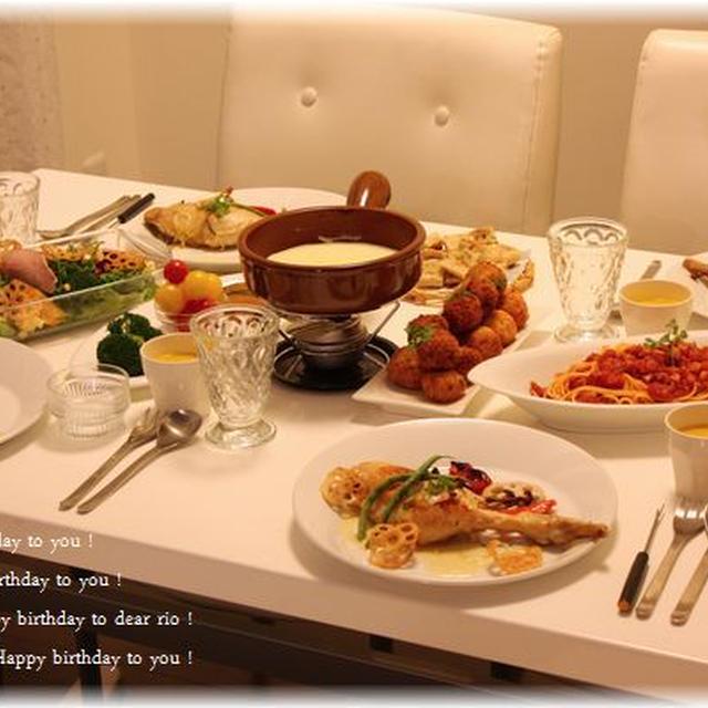 チーズフォンデュでお誕生日会♪