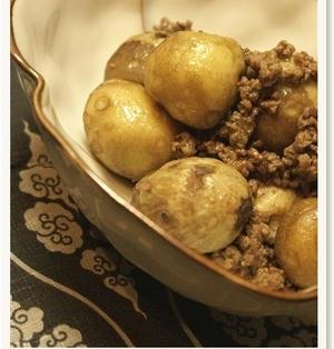 里芋とひき肉の煮っころがし