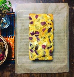さつま芋とラムレーズンのメープルパウンドケーキ