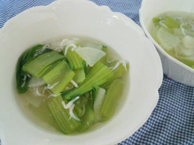 ほっこり~♪チンゲン菜とかぶとしらすのスープ煮☆