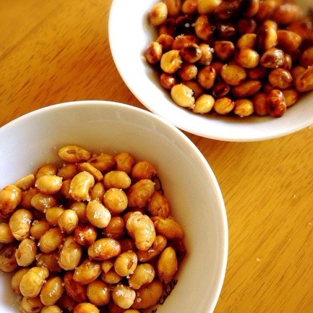大豆の素揚げ。