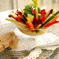 ちょっと贅沢に カニデップのカラフルステックサラダ