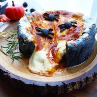 チーズ溢れ出す!魔女の鍋ピザ(シカゴ風ピザ)/Halloween deep-dish pizza ☆ハロウィンレシピ