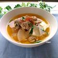 体が温まる♪風邪予防にも!ニンニクと生姜たっぷり豚肉と大根の韓国風スープ