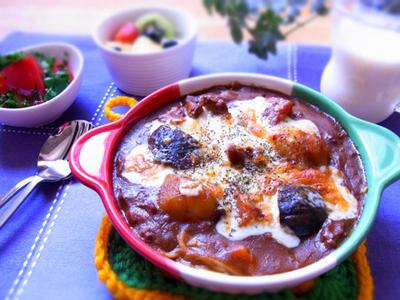 >糖質0g麺のカレースパゲティーグラタン & バンドミーティング by マムチさん