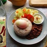bibigoコチュジャンを使って、ご飯も野菜もウマい肉味噌を作ってワンプレート♪