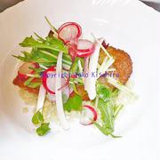 おもてなしレシピ~イベリコ豚のミラノ風カツレツ、サラダとクスクス添え R#81